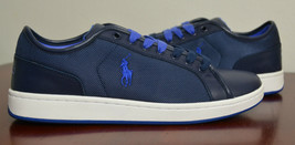 Polo Ralph Lauren Men TREVOSE LOW Sneakers Shoes Navy 10, 10.5 - $59.98