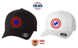 Autism Awareness Flexfit Hat Curved Or Flat Bill *Free Shipping In Box* - $19.99