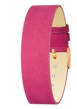Moog Paris Pink Nubuck Leather Bracelet for Women, Velvet Pattern, Pin C... - $46.65