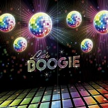 LET'S BOOGIE Happy Birthday Scene Setter party wall photo BACKDROP Decor... - $13.92