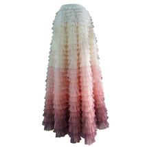 Yellow Pink Layered Tulle Skirt Tiered Tulle Party Outfit Plus Size Party Skirt  image 9