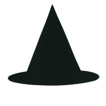 Witch's Hat Mylar Cut-Out Shapes Confetti Die Cut 15 pcs  FREE SHIPPING - £5.29 GBP