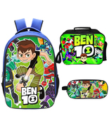 Ben 10 Backpack Lunch Box Pencil Case Outdoor School Package A - $45.99