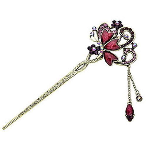 Retro Butterfly Diamond Pin Hair Accessories Hairpin Jewelry