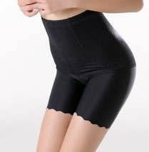 Black Thigh Tummy Control Underwear Slim Weight Loss Ice Silk Comfort Pa... - $11.70