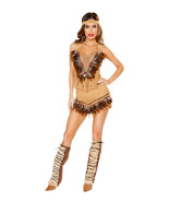 Roma Cherokee Inspired Hottie Indian Native American Halloween Costume 1... - $70.00+