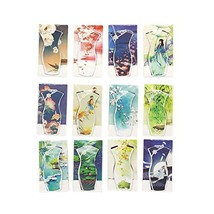 12Pcs Chinese Cheongsam Shape Magnet Bookmarks Paper Clips Book Signs