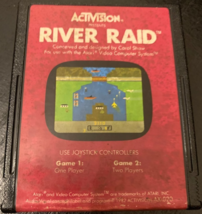ATARI 2600 River Raid tested video game cartridge Activision classic 1982  - $3.99