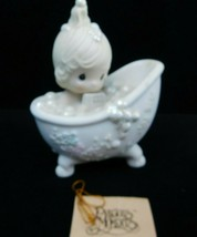 "Precious Moments ""He Cleansed My Soul"" Figurine #100277 1987 Enesco w/Box - $14.84"