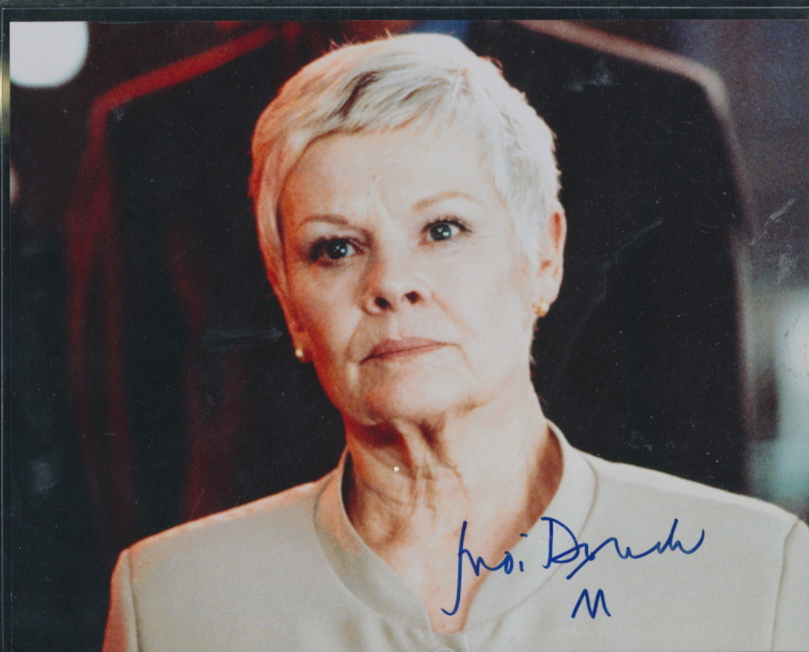 Primary image for Judy Dench signed color photo. Skyfall, Casino Royale.James Bond films