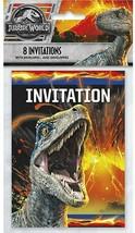 Jurassic World 2 Fallen Kingdom Party Invitations Pack, 8 - $9.85