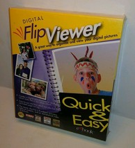 Flip Viewer Digital Picture PC Software Windows 95 98 NT Vintage New Dea... - $18.69