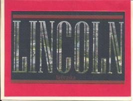 Lincoln Nebraska Capitol Postcard Letters Greeting Card with Envelope - $4.00