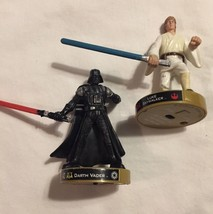 Attacktix Lot Of 2 Star Wars Pieces Luke Skywalker Darth Vader Game Piec... - $9.89