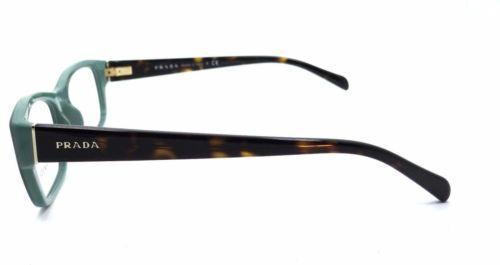 Authentic Prada Eyeglasses VPR18O TFO-1O1 Opal Green Havana RX-ABLE 52MM
