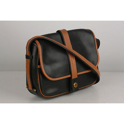 Authentic Hermes Vintage Black and Tan Leather Noumea Shoulder Bag image 3