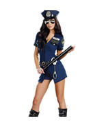 Sexy Police Women  Outfits Cosplay Policewoman Romper Fancy Dress Halloween - $39.99