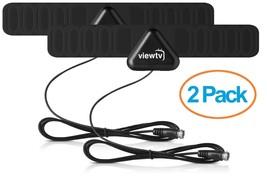 2 Pack 25 Mile Digital High Definition Super Thin Mini Flat HD Indoor TV... - $15.22