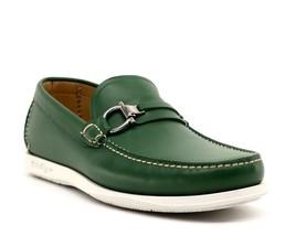 Salvatore Ferragamo Loafers Lorien Gancini Green Leather Size 9 EE New - $331.65
