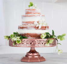 16 inch Rose Gold Wedding Cake stand Cupcake Stand Baby Shower cake stand  - $112.99