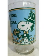 1965 Peanut Snoopy Woodstock Drinking Glass United Feature Syndicate - $31.19