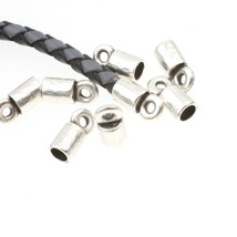 End Caps for 5mm Leather Paracord Kumihimo Silver Jewelry Craft Supply 1... - $10.10