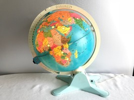 "Fisher Price Light Up 12"" Diameter Globe with View Finder circa 1988 - $60.00"