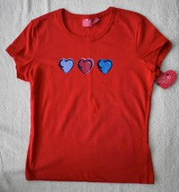 LOVE SO SWEET Girl's Red Hearts T-Shirt - $4.00