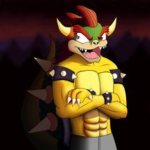 Digital Download - Anthro Bowser Digital Fan Art - Nintendo Furry Gaming - $3.99