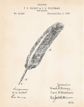 """1889 Gifts For A Writer Writers Poets Journalist 11""""x14"""" Patent Art Prin... - $12.38"""