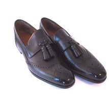 J-1831149 New Bally Lavent Black Washed Oxford Loafer Dress Shoes Size 10.5 - $289.99
