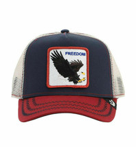 Goorin Bros Snapback Mesh Cap Navy Let It Ring Freedom Eagle Trucker Hat 1010563 image 2