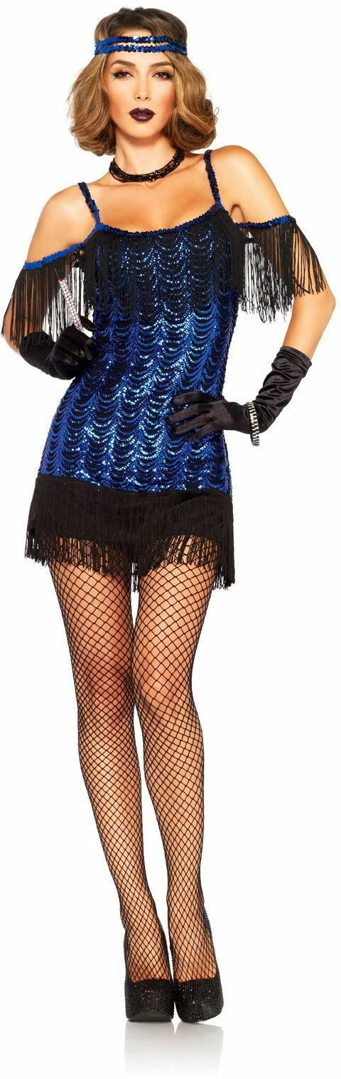 Primary image for LEG AVENUE ADULT WOMENS GREAT GATSBY FLAPPER DANCER HALLOWEEN COSTUME  XS-3X/4X