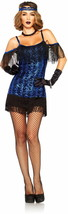 LEG AVENUE ADULT WOMENS GREAT GATSBY FLAPPER DANCER HALLOWEEN COSTUME  X... - $39.99