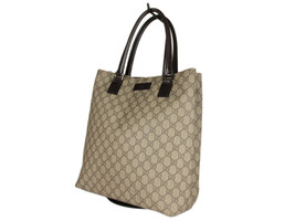 GUCCI GG Web PVC Canvas Leather Browns Shoulder Bag GT2525 - $389.00