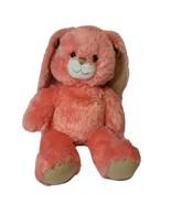 Build A Bear Peach Coral Bunny Rabbit Long Floppy Ears Sparkles on Feet ... - $15.01