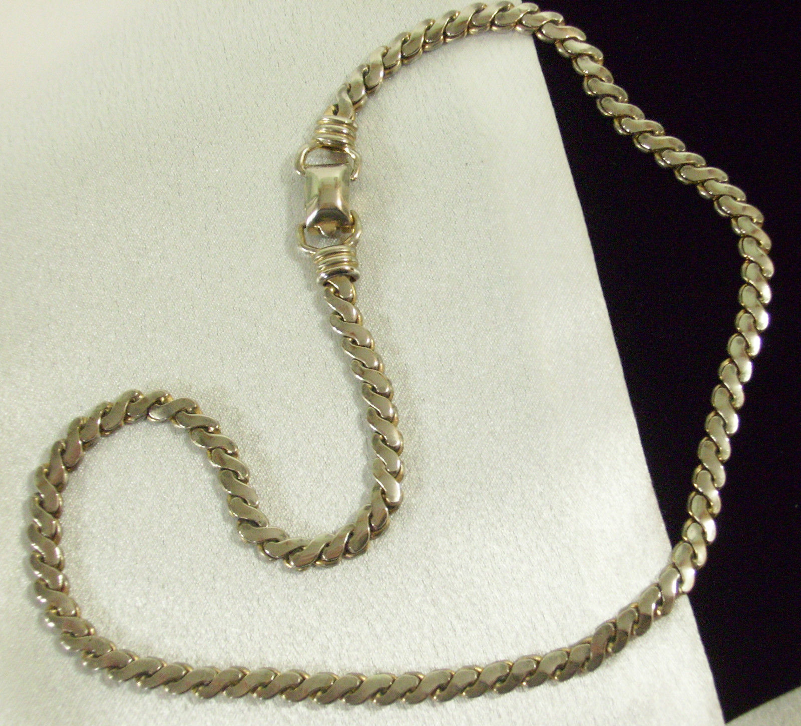 CORO Silver Plate Necklace Serpentine Chain CHOKER Vintage Estate Career