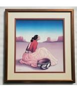 R.C Gorman LA NOCHE Santa Fe Fine Arts Southwest Indian Framed Poster Pr... - $373.99