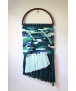 Geometric Macrame Wall Hanging in Shades of Blue - $90.00