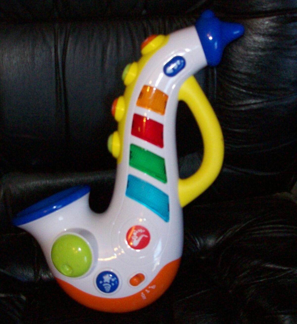 Primary image for Hap-p-Kid Happy Kid Toy Musical Saxophone With Lights, Sounds & Tunes