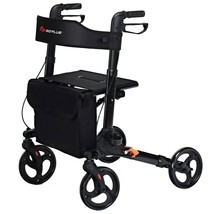 Folding Medical Rollator Lightweight Aluminum Walker for Seniors - new (cy) - $131.99
