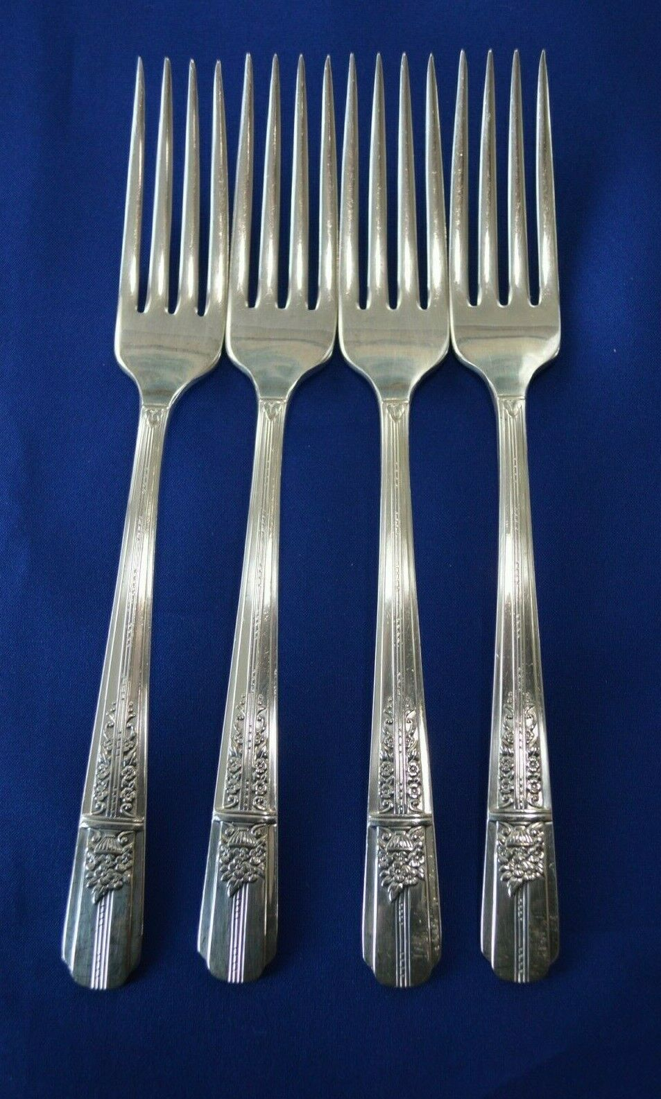Primary image for 4 Wm A Rogers Oneida Celebrity Aka Wild Rose 1939 Dinner Forks