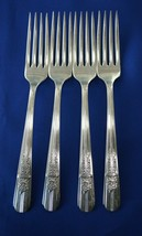 4 Wm A Rogers Oneida Celebrity Aka Wild Rose 1939 Dinner Forks - $19.80
