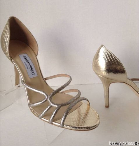 NEW Authentic JIMMY CHOO Straits D'Orsay Gold Sandals (Size 40.5) - MSRP $795.00 image 10
