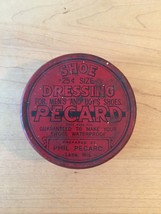 Vintage 40s Pecard Shoe Dressing tin packaging (mostly full)