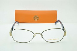 Tory Burch TY 1043 3058 Navy Gold Eyeglasses Clear lenses + Case 52mm - $49.95