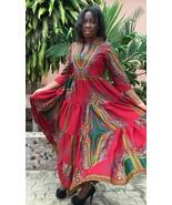 Odeneho Wear Ladies Dashiki 3/4 Sleeves Long Dress. African Clothing - $99.00+