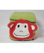 "Rich Frog The Knit Monkey 4"" Infant Baby Rattle Block Cube Plush Toy Str... - $8.90"