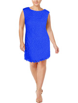 Lauren Ralph Lauren Womens Sz 12 Lace Overlay Bateau Casual Blue Dress 2340-3 - $74.04