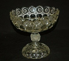 Antique 1890's EAPG Jeweled Moon & Stars Compote Imperial by Co-Operativ... - $123.74